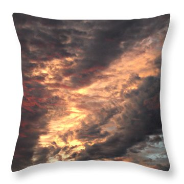 How About Them Clouds Throw Pillow
