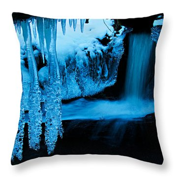 Throw Pillow featuring the photograph Ice Flow by Sean Sarsfield