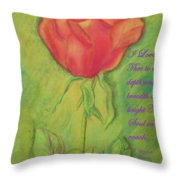 How Do I Love Thee ? Throw Pillow