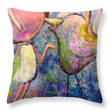 How I Learned To Sing Throw Pillow by Eleatta Diver