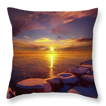 Throw Pillow featuring the photograph How Loud The Silence Is by Phil Koch