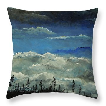 Throw Pillow featuring the painting How Majestic Is Your Name by Dan Whittemore