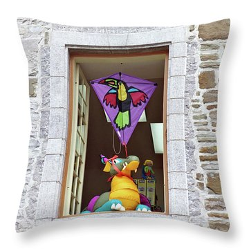 Throw Pillow featuring the photograph How Much Is That Dragon In The Window by John Schneider