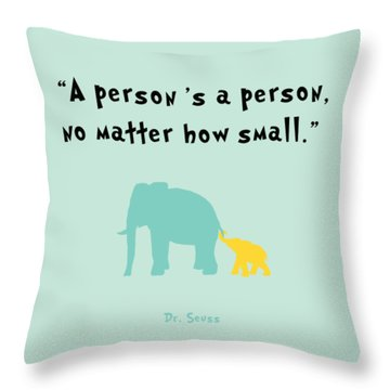 How Small Throw Pillow