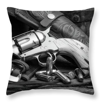How The West Was Won In Black And White Throw Pillow