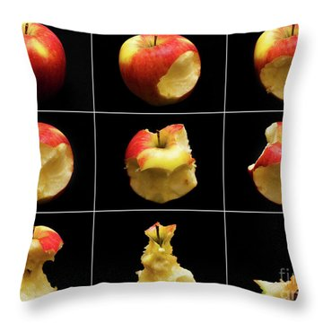 How To Eat An Apple In 9 Easy Steps Throw Pillow
