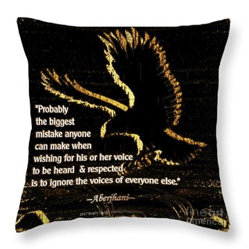 How To Hear Each Other  Throw Pillow by Aberjhani
