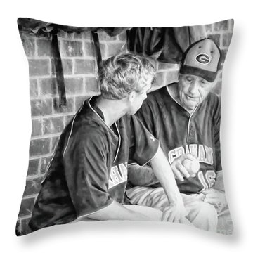 Throw Pillow featuring the photograph How To Throw A Curve Ball by Benanne Stiens