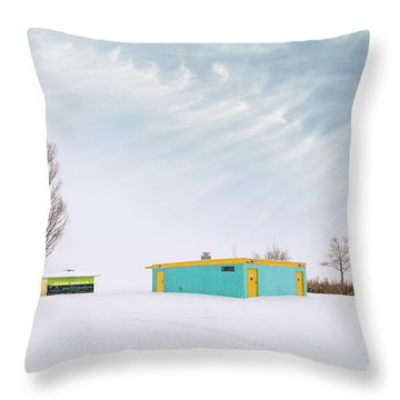 Throw Pillow featuring the photograph How To Wear Bright Colors In The Winter by John Poon