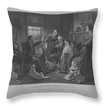 How We Won The Battle Throw Pillow