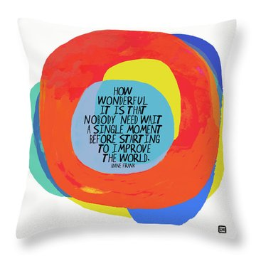 How Wonderful Throw Pillow