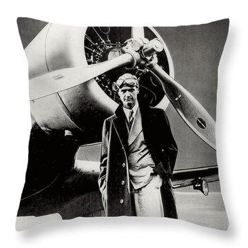 Howard Hughes - American Aviator  Throw Pillow