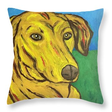 Howard Throw Pillow by Victoria Lakes