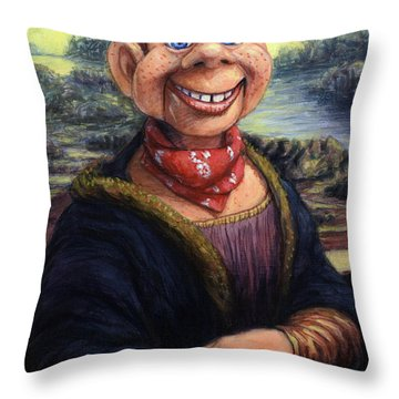 Throw Pillow featuring the painting Howdy Doovinci by James W Johnson