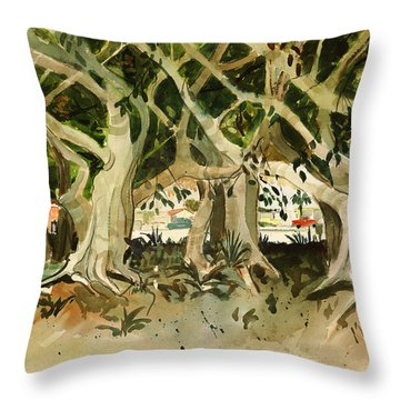 Howley's Banyans Throw Pillow