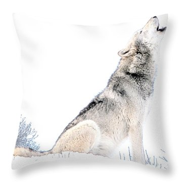 Howling Wolf 1 Throw Pillow
