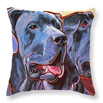 Howy And Iloy Throw Pillow by Nadi Spencer