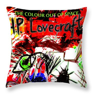 Hp Lovecraft Poster  Throw Pillow