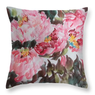 Throw Pillow featuring the painting Hp11192015-0754 by Dongling Sun