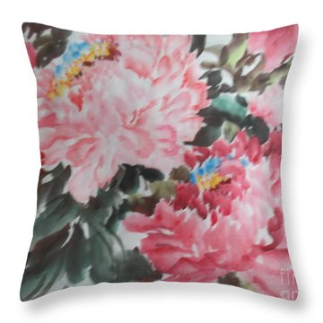 Throw Pillow featuring the painting Hp11192015-0759 by Dongling Sun