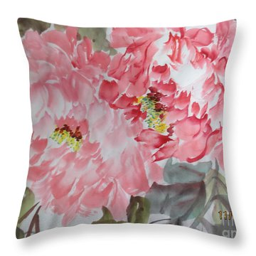 Throw Pillow featuring the painting Hp11192015-0761 by Dongling Sun