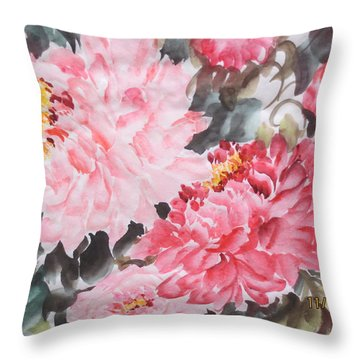 Throw Pillow featuring the painting Hp11192015-0768 by Dongling Sun