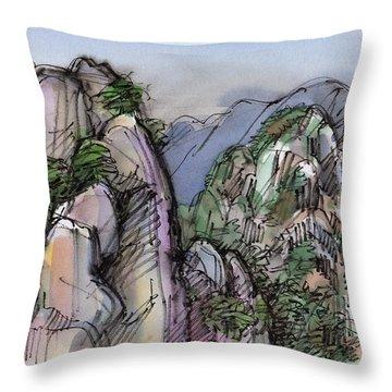 Huangshan, China Throw Pillow