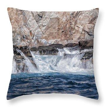 Huatulco Textures Throw Pillow by Ana Mireles
