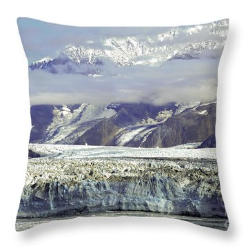 Hubbard Glacier Throw Pillow
