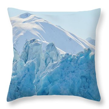 Hubbard Glacier Throw Pillow
