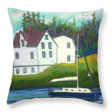 Hubbard's Coach House Throw Pillow
