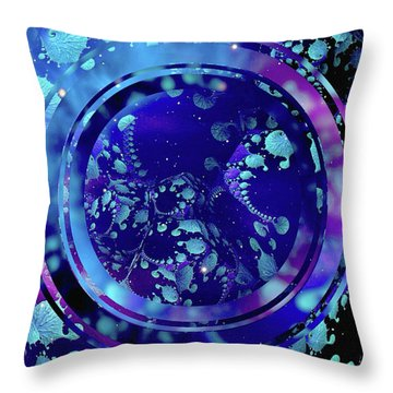 Throw Pillow featuring the painting Hubble 3014 by Susan Maxwell Schmidt