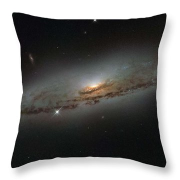 Hubble Mosaic Of The Majestic Sombrero Galaxy1 Throw Pillow