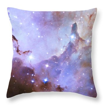 Throw Pillow featuring the photograph Hubble Space Telescope Celebrates 25 Years Of Unveiling The Universe by Nasa