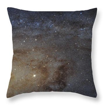 Throw Pillow featuring the photograph Hubble's High-definition Panoramic View Of The Andromeda Galaxy by Adam Romanowicz