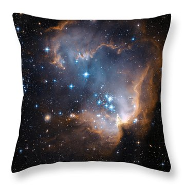Hubble's View Of N90 Star-forming Region Throw Pillow by Nasa