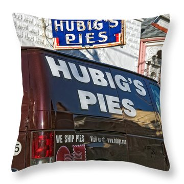 Hubig's Pies 2 New Orleans Throw Pillow