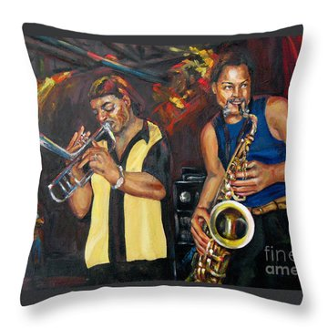 Hud N Lew/ The Daddyo Brothers Throw Pillow