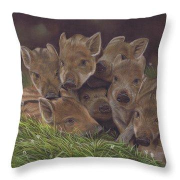 Huddle Of Humbugs Throw Pillow