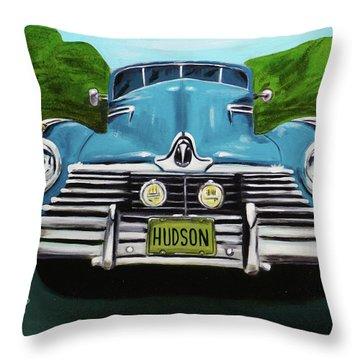 Hudson Blue Throw Pillow