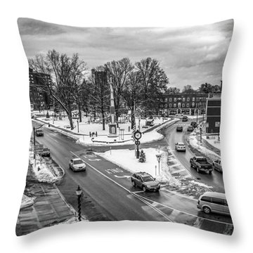Hudson Falls Business District Throw Pillow