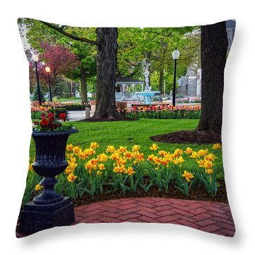 Hudson Falls...a Great Place To Call Home Throw Pillow