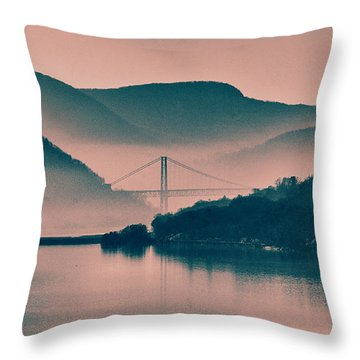 Hudson Highlands Fog Throw Pillow