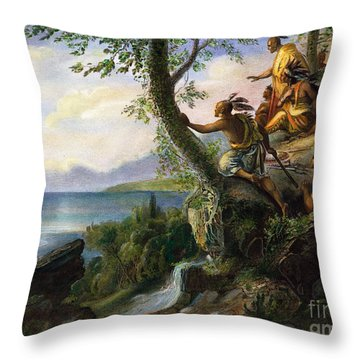 Hudson: New York, 1609 Throw Pillow by Granger