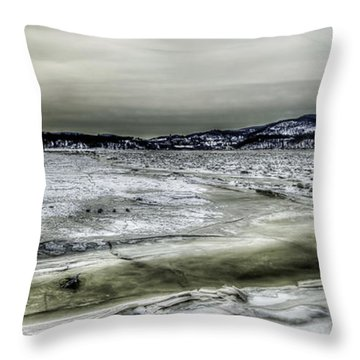 Throw Pillow featuring the photograph Hudson River Cold Spring, New York by Rafael Quirindongo
