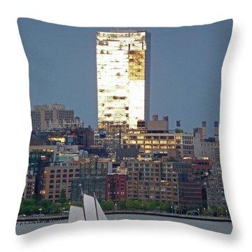 Hudson River Sail Throw Pillow