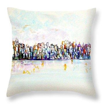 Hudson River View Throw Pillow