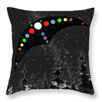 Throw Pillow featuring the painting Hudson Valley Ufo by James Williamson