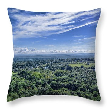 Hudson Valley View Throw Pillow