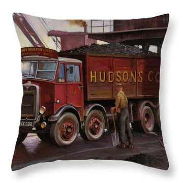 Hudsons Coal. Throw Pillow by Mike  Jeffries